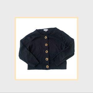 Calvin Klein black cropped black 3/4 sleeved cardigan.